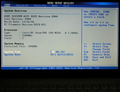 009 BIOS Menu Main.JPG